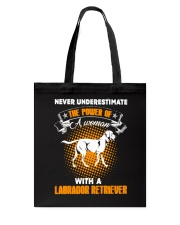 WOMAN WITH A LABS Tote Bag thumbnail