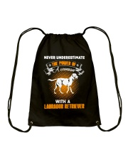 WOMAN WITH A LABS Drawstring Bag thumbnail
