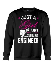Just a girl in love with her engineer Crewneck Sweatshirt thumbnail