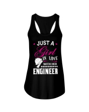 Just a girl in love with her engineer Ladies Flowy Tank thumbnail