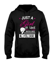 Just a girl in love with her engineer Hooded Sweatshirt thumbnail