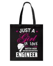 Just a girl in love with her engineer Tote Bag thumbnail