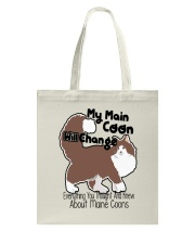 Maine Coon Cat Shirt Tote Bag thumbnail