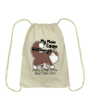 Maine Coon Cat Shirt Drawstring Bag thumbnail