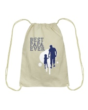 Best Papa Ever Drawstring Bag thumbnail