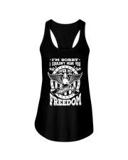 Funny Freedom Distressed Ladies Flowy Tank thumbnail
