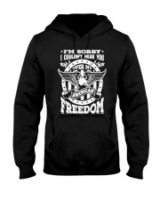 Funny Freedom Distressed Hooded Sweatshirt thumbnail
