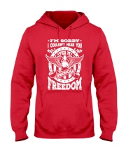 Funny Freedom Distressed Hooded Sweatshirt front
