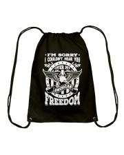 Funny Freedom Distressed Drawstring Bag thumbnail