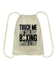 Touch Me Your First Boxing Drawstring Bag thumbnail