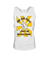 THE BEST FATHER copy Unisex Tank thumbnail
