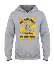 THE BEST FATHER copy Hooded Sweatshirt front