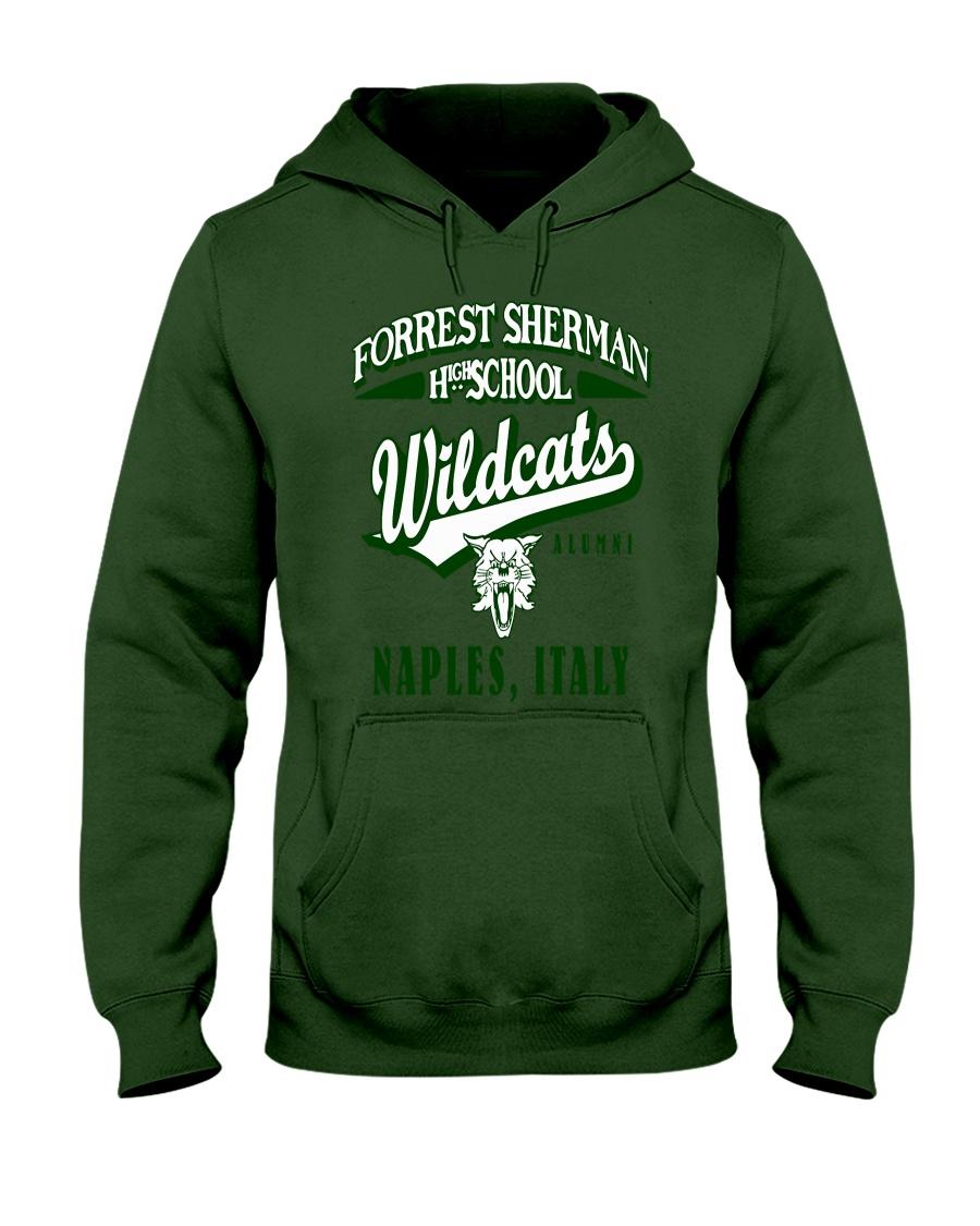 Forrest Sherman High School Naples Italy Wildcats Hooded Sweatshirt