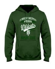 Forrest Sherman High School Naples Italy Wildcats Hooded Sweatshirt front