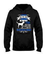 Beware I Am That Crazy Labrador Lady Hooded Sweatshirt front
