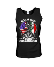 Mexican Roots Born American Unisex Tank thumbnail