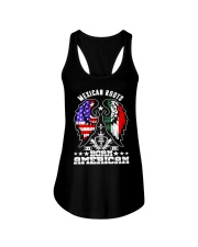 Mexican Roots Born American Ladies Flowy Tank thumbnail