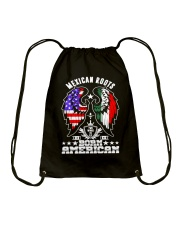 Mexican Roots Born American Drawstring Bag tile