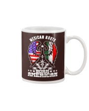 Mexican Roots Born American Mug tile