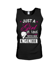Just a girl in love with her engineer Unisex Tank thumbnail