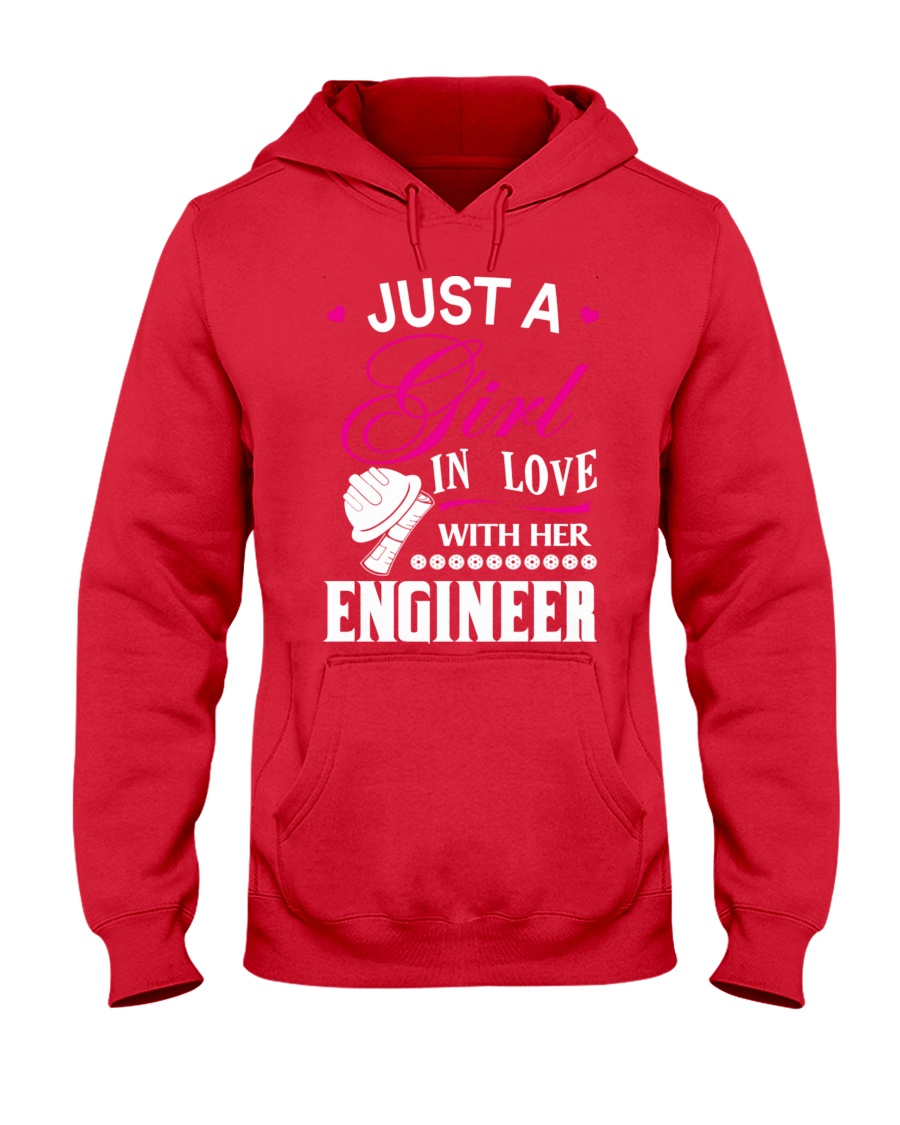 Just a girl in love with her engineer Hooded Sweatshirt