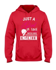 Just a girl in love with her engineer Hooded Sweatshirt front