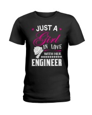 Just a girl in love with her engineer Ladies T-Shirt thumbnail