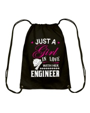 Just a girl in love with her engineer Drawstring Bag thumbnail