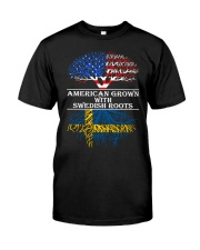 American Grown With Swedish Roots Classic T-Shirt thumbnail