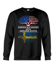 American Grown With Swedish Roots Crewneck Sweatshirt thumbnail