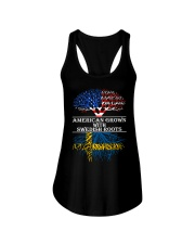 American Grown With Swedish Roots Ladies Flowy Tank thumbnail
