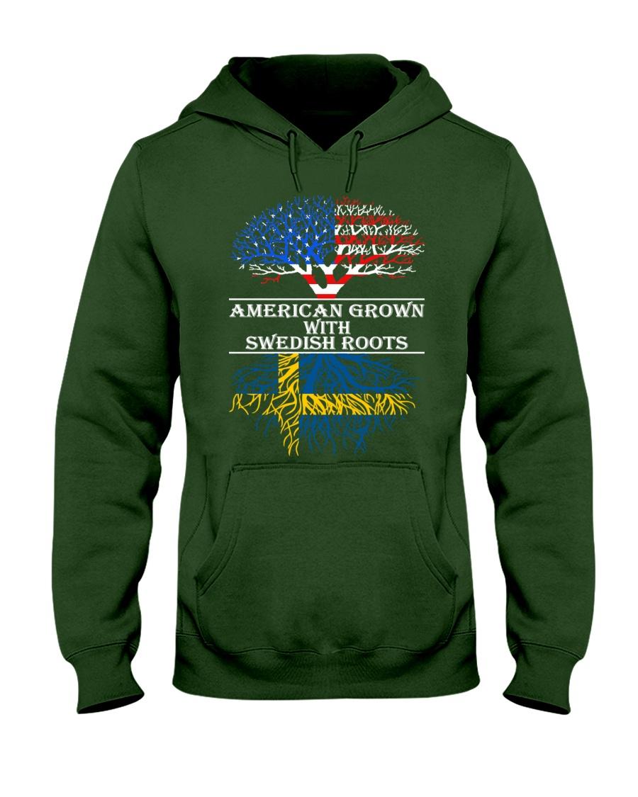 American Grown With Swedish Roots Hooded Sweatshirt