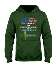 American Grown With Swedish Roots Hooded Sweatshirt front