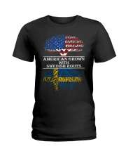 American Grown With Swedish Roots Ladies T-Shirt thumbnail
