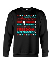 Proud To Be An American Crewneck Sweatshirt thumbnail