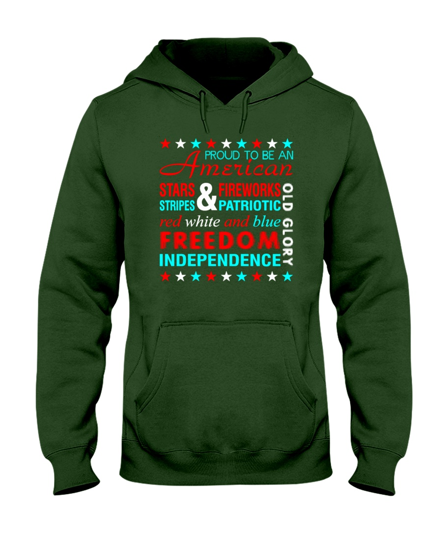 Proud To Be An American Hooded Sweatshirt