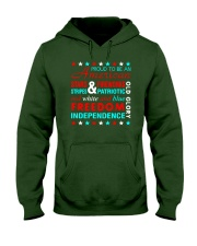 Proud To Be An American Hooded Sweatshirt front