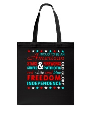 Proud To Be An American Tote Bag thumbnail