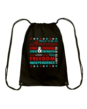 Proud To Be An American Drawstring Bag thumbnail