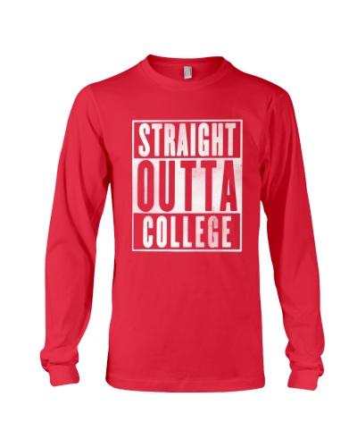 Straight Outta College Graphic Senior