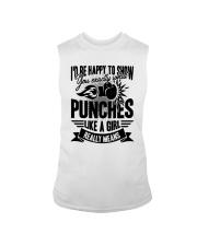 Boxing Puches Like A Girl Sleeveless Tee thumbnail