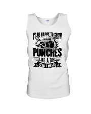Boxing Puches Like A Girl Unisex Tank thumbnail