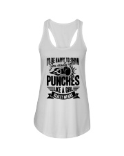 Boxing Puches Like A Girl Ladies Flowy Tank thumbnail