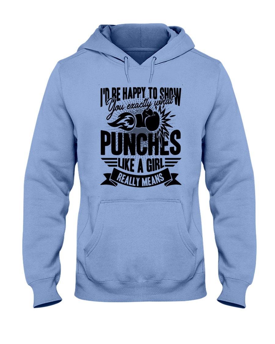 Boxing Puches Like A Girl Hooded Sweatshirt