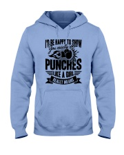 Boxing Puches Like A Girl Hooded Sweatshirt front