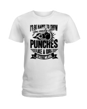 Boxing Puches Like A Girl Ladies T-Shirt thumbnail