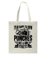 Boxing Puches Like A Girl Tote Bag thumbnail