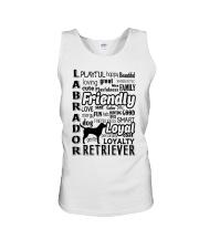Labrador Retriever Friendly Unisex Tank thumbnail