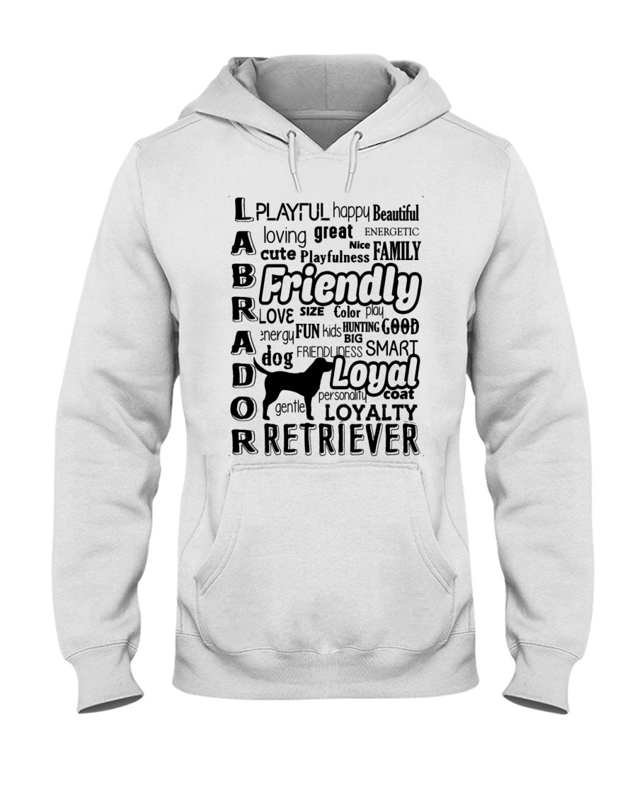 Labrador Retriever Friendly Hooded Sweatshirt