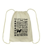 Labrador Retriever Friendly Drawstring Bag thumbnail
